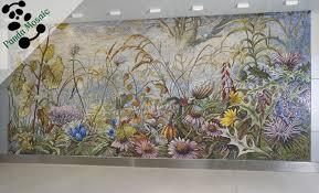 Mosaic Tile Bedroom Decoration Plain Decorative Wall Tiles For - Flower designs for bedroom walls