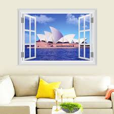 home decor sydney aliexpress com buy sydney opera house wall stickers home decor