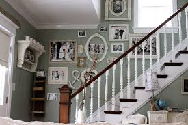 shabby trim decorating with family photos on walls staircase shabby chic style