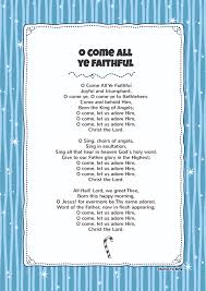 o come all ye faithfull kids video song with free lyrics