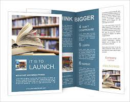library brochure templates 23 library brochure templates free psd
