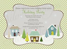 progressive dinner winter homes christmas party invitation by
