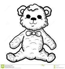 drawn toy teddy bear pencil and in color drawn toy teddy bear