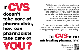 union informs of cvs pharmacists unfair working conditions