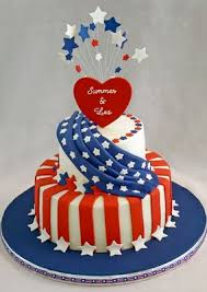 stars and stripes wedding cake www tablescapesbydesign com https