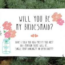 bridesmaid card wording 101 wedding printables free