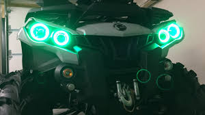 halo light installation near me halo lights install can am outlander atvp garage youtube