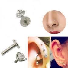 auskarai i nosi auskarai internetu pirsingui kristaliukas