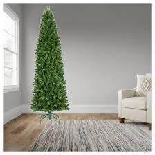 9ft prelit slim artificial tree alberta spruce clear
