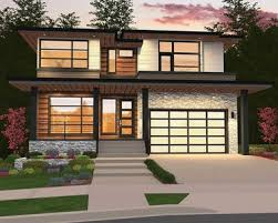 modern home plan modern home plan with 2 master suites 85148ms architectural