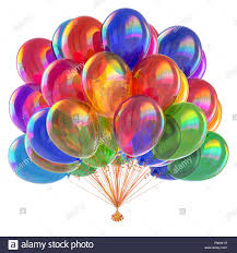 colorful party balloons shiny multicolored birthday decoration