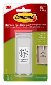 Frameless Photo Command Large Canvas Picture Hanger
