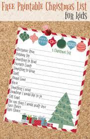 25 unique christmas list printable ideas on pinterest christmas