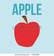 drawing letter a apple stock vector 87272272 shutterstock