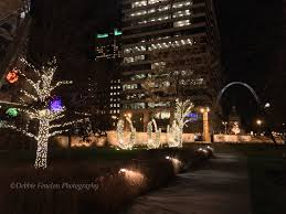 christmas lights in missouri christmas lights at citygarden in downtown st louis missouri