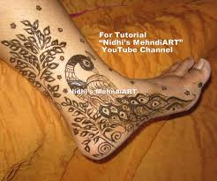 gorgeous peacock tree henna mehndi design tutorial for side