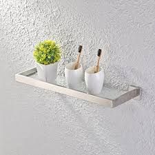 Glass Shelves Bathroom Kes Glass Shelf Bathroom 20 Inch Sus 304 Stainless Steel And