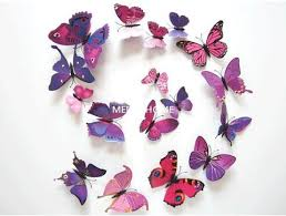 3D Butterfly Wall Decor 12 Piece Set – Craftted