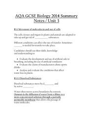 biology 3 summary notes and summary worksheets by cs97 teaching