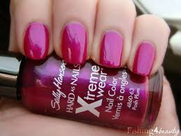 fishing4beauty sally hansen xtreme wear posh plum