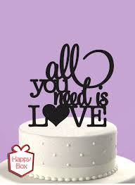 all you need is cake topper happy box buenos aires cake topper adorno para torta de boda all