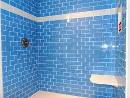 periwinkle glass subway tile modwalls lush 3x6 tile modwalls tile lush periwinkle 3x6 bright blue glass subway tile shower wall installation