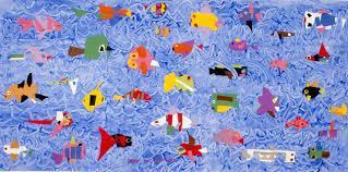 art for small hands cut paper u0026 printing fish mural