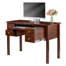ashley furniture writing desk amazon com winsome emmett writing desk with pull out keyboard and 2