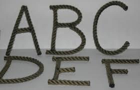 Nautical Theme Decor Alphabet Letters Letters Made To Order Nautical Theme Decor