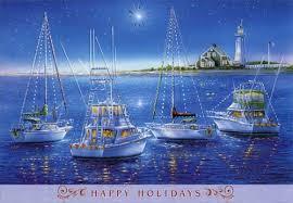 nautical christmas cards sailboats and yachts box of 18 nautical christmas cards by