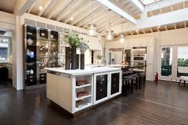 modern kitchen floor contemporary kitchen design idea feat oak wood flooring and