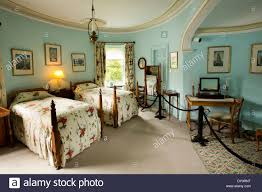 ireland co donegal glenveagh castle interior oval bedroom in