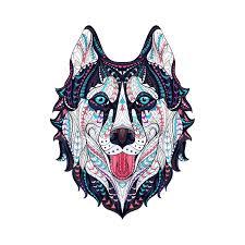 Wolf Mask Wolf Mask Wolf Mask Temporary Tattoo Momentary Ink