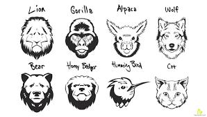 animals portrait stencils free vector u0026 clipart design