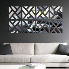 modern wall decals for living room modern mirror stick diy acrylic removable mirror stick wall art
