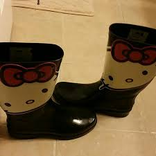 womens boots size 9 83 sanrio boots hello boots size 9 womens from