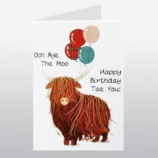 scottish birthday och aye the moo card wwbi113 birthday cards