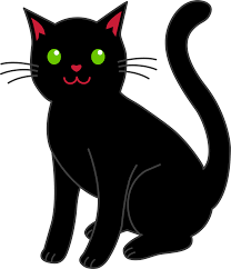 cat clipart simple black halloween cat free clip art initial