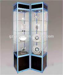 lockable glass display cabinets living room showcase corner design
