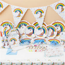 in party supplies unicorn theme party supplies wrapper topper gift bag banner flag
