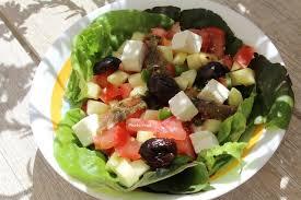 assiette de cuisine assiette repas salade façon grecque mamy nadine cuisine