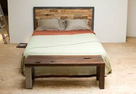 Diy Metal Headboard I Want This Headboard And Bed Reclaimed Wood And Iron Steel