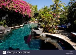 indonesia bali kuta hotel swimming pool stock photo royalty