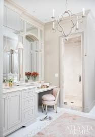 Yellow And Pink Bathroom Pink And Gray Bathroom With Pink Marble Tile Floor Transitional