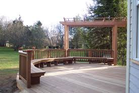 Pergola And Decking Designs by Exterior Design Enchanting Exterior Home Design With Cozy Ipe