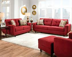 Living Room With Red Sofa by Contemporary Full Leather Red Sofa Set 44l2540 Red Cabot Red