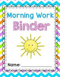 Binder Cover Sheets by Sweet For Kindergarten Morning Work Made Easy A Friyay Freebie