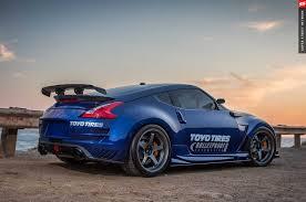 nissan blue car varis turbo 2009 nissan 370z by bulletproof automotive