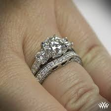 gold wedding set 3 coeur de clara diamond wedding set 1509