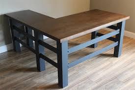 industrial desk l handcrafted industrial l shaped executive desk heartland rustics